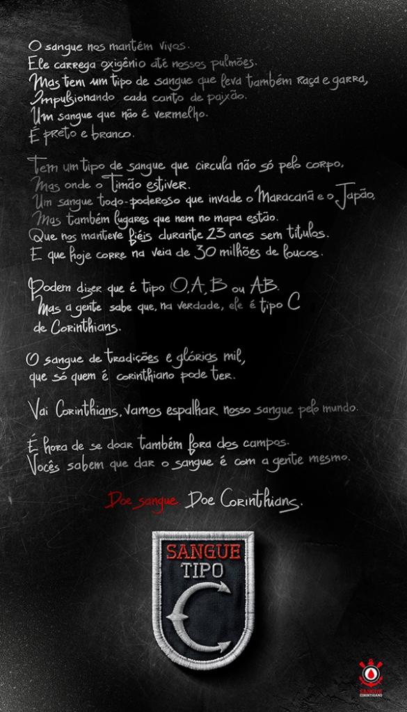 Sangue Tipo C, Manifesto, Publicis Brasil