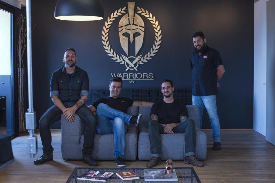 A equipe The Warriors: Niko Castilho, Adriano Costa, Daniel Soci e Thiago Cora