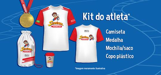 Kit esportivo do Senninha Racing Day