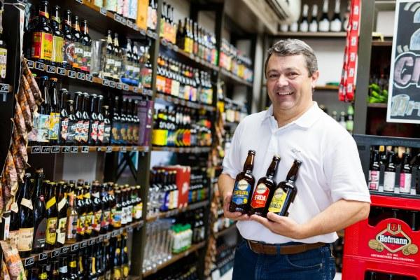 Valmir Zanetti, diretor da Cerveja Blumenau | Imagem: Daniel Zimmermann