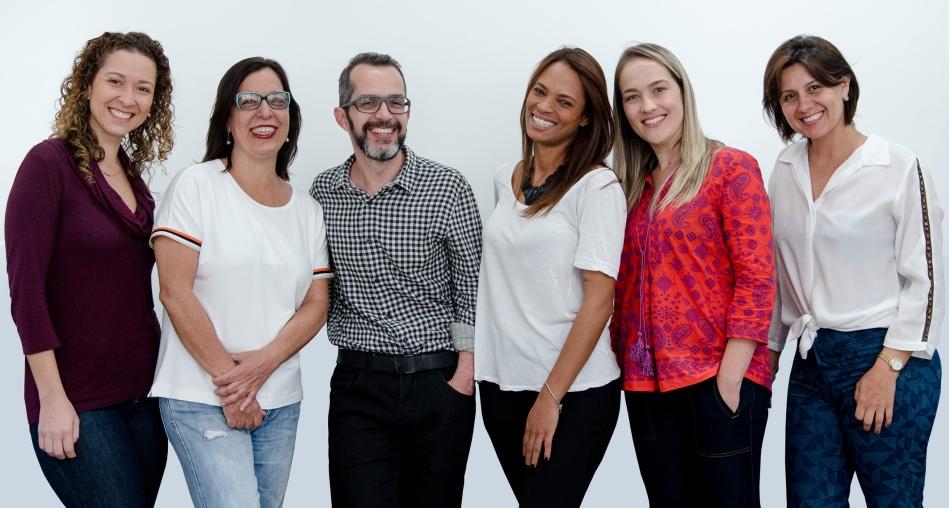 Liana Haje, Bia Bahia, Renato Villamarim, Patricia Silva, Maria Eugênia Oliveira e Claudia Sena.