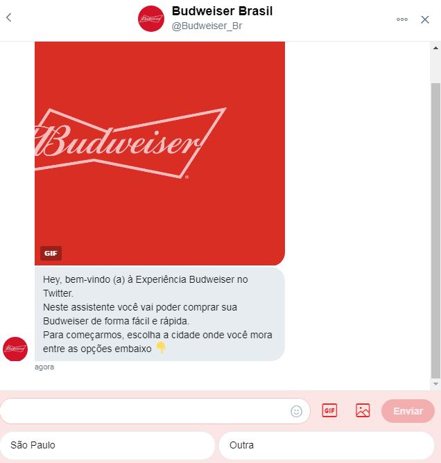 12ab85e9a2 Budweiser e Twitter anunciam parceria que permite encomendar cerveja ...